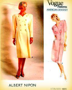 Sewing Pattern Vintage 1980s Vogue American by mmmsvintagepatterns
