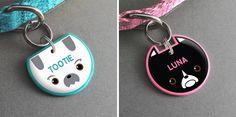 Handmade Novelty Pet Tags from Pixsqueaks