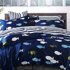Parure de lit pour enfant avec housse de couette et taie doreiller pour lit b/éb/é 100 /% coton Motif animaux de la jungle