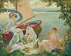 Bonhams New York - Picnic on the Starnberger - Edward Cucuel American Impressionist