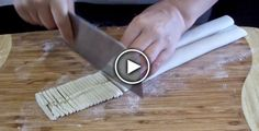 She Rolled The Dough The She Cut it Into Thin Strips For The Most Genius Reason - Foood Style