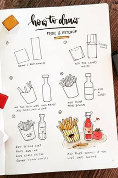 21 Best Step By Step Food Doodles For Your Bujo Best step by step food doodle tutorials and ideas for your bullet journal – Cupcake Easy Doodles Drawings, Easy Doodle Art, Cute Easy Drawings, Simple Doodles, Food Drawing Easy, Drawing Ideas, Bullet Journal Writing, Bullet Journal Aesthetic, Bullet Journal Ideas Pages