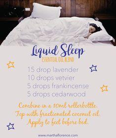 Essential oils for sleep (http://www.marthaflorence.com) #aromatherapysleepblends