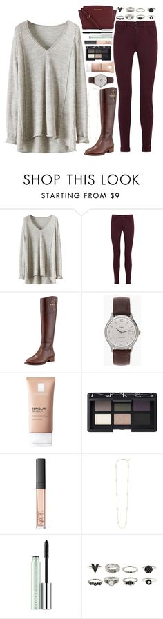 """""""Untitled #149"""" by fashion-n-o-w ❤ liked on Polyvore featuring J Brand, Tory Burch, J.Crew, La Roche-Posay, NARS Cosmetics, Kendra Scott and Clinique"""