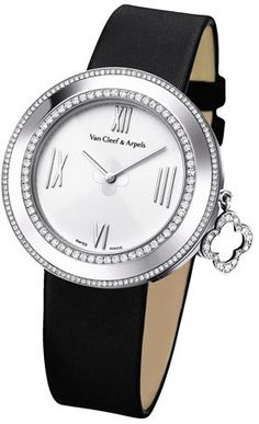 Van Cleef & Arpels White Gold Charms Watch with Diamonds, 38mm