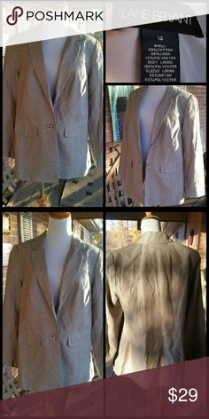 Gorgeous Gray Jacket by Lane Bryant Blazer is lined by Lane Bryant in Size 14..See pics for details and material info Lane Bryant Jackets & Coats