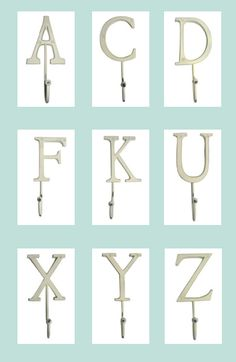 1000 images about letter hook on pinterest alphabet for Party wall letter template