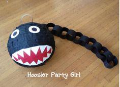 chain chomp piñata for super Mario bros. party