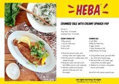 HEBA Crumbed fish with creamy spinach pap Banting Desserts, Banting Recipes, Low Carb Recipes, Paleo, Keto, Lchf, Creamy Spinach, Low Carb Diet, Healthy Cooking