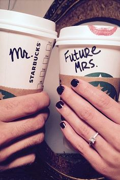 The perfect engagement announcement for coffee lovers. The perfect engagement announcement for coffee lovers. Engagement Pictures, Engagement Shoots, Engagement Photography, Wedding Pictures, Wedding Engagement, Wedding Photography, Coffee Engagement Photos, Engagement Rings, Engagement Ideas