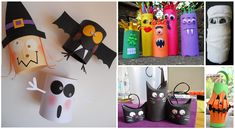 toilet paper roll crafts for Halloween Diy Crafts Love, Diy Crafts For Bedroom, Diy Crafts For Teen Girls, Diy Crafts Videos, Diy For Kids, Toilet Paper Roll Crafts, Diy Paper, Halloween Kids, Halloween Crafts
