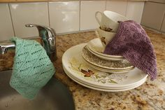 Next time you have to wash up the Crown Lynn you could be using one of these fine hand knitted cotton dish cloths. What better way to treat your good china.