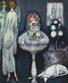 La Vasque Fleurie, Kees Van Dongen. Dutch (1877 - 1968)  Quelle: poboh  #keesvandongen #art #kunst