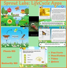 Amazing butterfly lifecycle and plant lifecycle apps.  Great for non-fiction learning or science learning.  Love these!