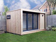 Edge 4x3m garden office with 3m folding doors, from £9,995 plus VAT