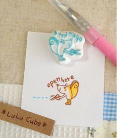 Oktober 2012 Artikel | Radiergummi Stempel * LuLu Cube *