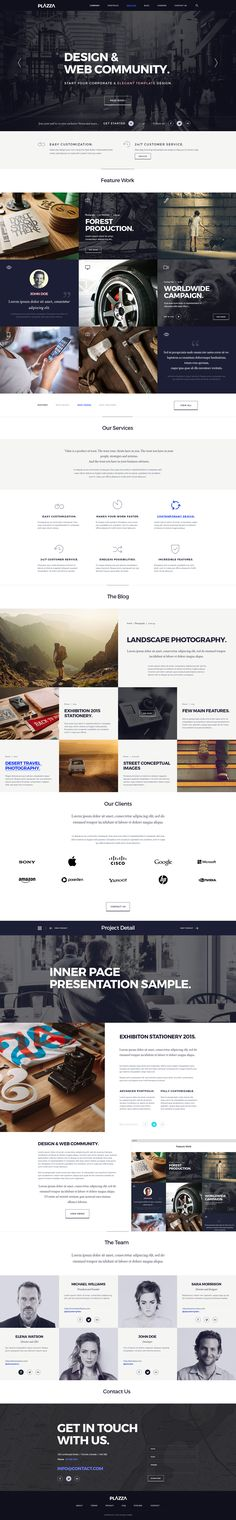 Plazza Corporate Psd Website | Psd Web Templates | Pixeden