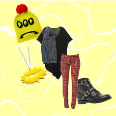 """three eyed sadnnesss"" by cosmic-rush ❤ liked on Polyvore"