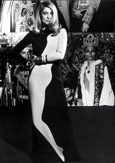Catherine Deneuve (and the Sjah of Persia) by Helmut Newton. via tambourine-girl.tumblr.com