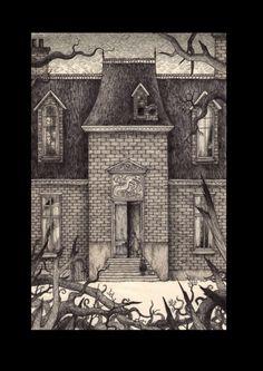 Cover image, John Kenn Mortensen illus for Deadfall Hotel, Centipede Press