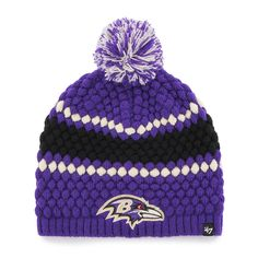 Amazon.com   NFL Baltimore Ravens Women s  47 Leslie Knit Beanie with Pom db032ded4