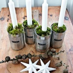 advent ljusstake jul diy inspiration ide