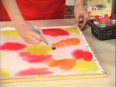 Pintura em Seda - Flores com Sal e Grafismo