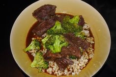 Takeout fake-out.. crockpot beef & broccoli, easy and delicious!!