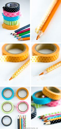 Washitejpade pennor - Idébank - DIY - Make & Create