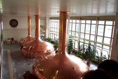 Beer vats at Budweiser brewery, Ceske Budejovice, Czech Republic
