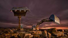 Ťažké stroje ako z inej galaxie Heavy Construction Equipment, Heavy Equipment, Engin, Mysterious Places, Heavy Machinery, Black Walls, Tractors, World, Building