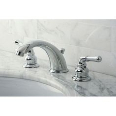 $117: Found it at Wayfair - Magellan Double Handle Widespread Bathroom Faucet with ABS Pop-Up Drain
