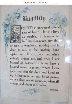 Humility~