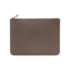 Large Blossom Pouch in Taupe Calf Nappa | Women | Mulberry