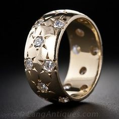 Vintage Star-Set Diamond Band - 110-1-4956 - Lang Antiques