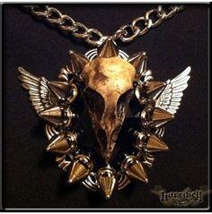 """Apocalypse"" Spike Necklace Bird Skull from rebelsmarket.com"
