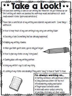 Writing Note Freebie