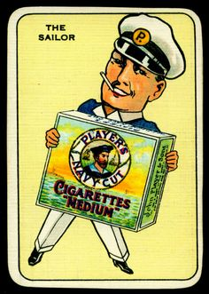 Snap Cards - Navy Cut CigarettesPlayer's Navy Cut advertisment card.Issued as packs of 32 cards, 1930