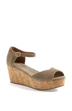 TOMS Platform Wedge Sandal (Women) | Nordstrom love that ankle strap!