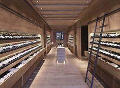 Wine Bar Design, Wine Cellar Design, Wine Cellar Racks, Wine Cellars, Miami Beach, Wine Furniture, Luxury Bar, Caves, Elle Decor