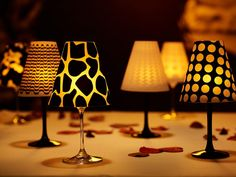 Wine Glass Lampshades Ideas