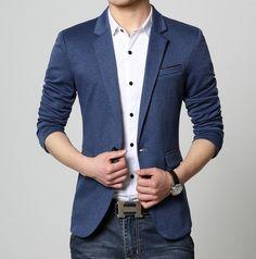 Men Slim Fit Casual Blazer - AmtifyDirect