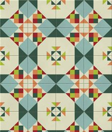 adesivo decorativo de parede: azulejo origami