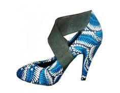 Ankara print heels