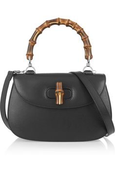 Gucci   Bamboo Classic textured-leather shoulder bag   NET-A-PORTER.COM