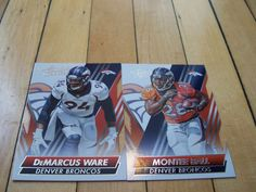 DEMARCUS WARE MONTEE BALL 2014 Absolute Denver Broncos (2) Card Lot