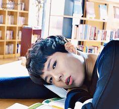 GIF 박보검 가나초콜릿CF 도서관편 30초 [ 출처 : 디시 박보검갤러리 ] 170110