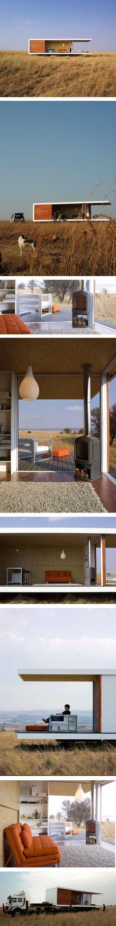 Zenyaka house in South Africa.  VISITA MÓDULO Av. Cañasgordas, ESTACIÓN ESSO. Más información: www.decasas.co; http://www.linkedin.com/company/decasas-modulares