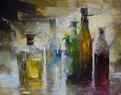 Five Bottles, 16x20, $2,500, Oil.jpg