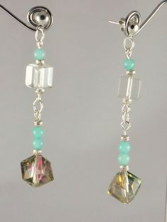 Boucles d'oreilles pierre cristal et par JadeetCristaldeMarie
